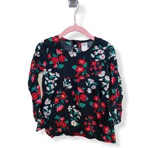 [3 for $15] Black Floral Toddler Shirt